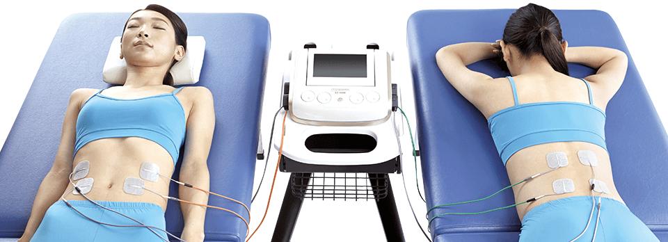 4CH独立操作で、複数人の同時治療を実現。それぞれの症状に合わせた、プログラム設定が可能。
